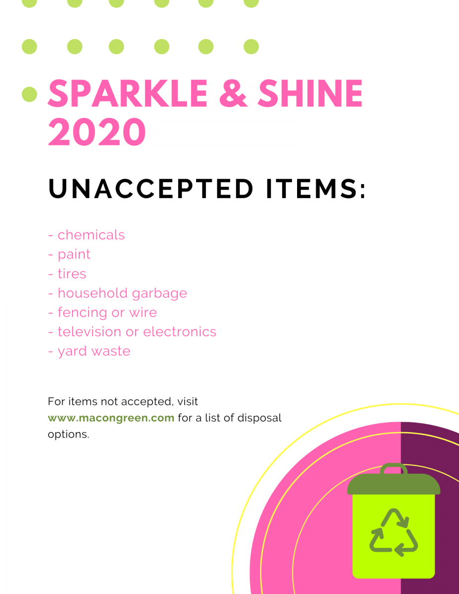 Sparkle & Shine 2020 Unaccepted Items